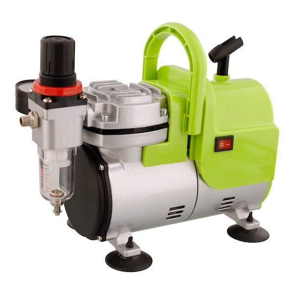 High Performance Airbrush Air Compressor Includes Air Pressure Regulator with Gauge and Water Trap Filter, Airbrush Holder review