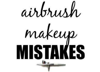 Airbrush makeup mistakes sign